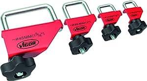 Vigor V3381 Set de pinces pour tuyaux 4 pièces