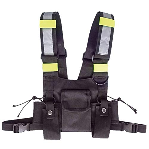CUHAWUDBA Walkie Talkie Weste Fluoreszierende Weste Aufbewahrungs Tasche Brust Tasche (Ham-radio-bekleidung)