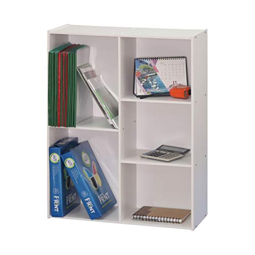 Absolute Deal Multi Tier Wooden Bookcase Display Shelving Storage Unit Wood Furniture (White) -