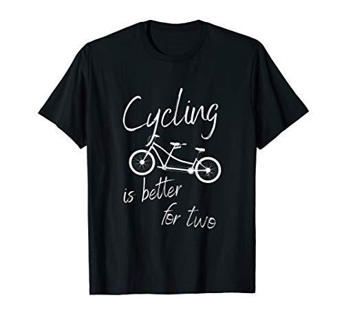 Tandem T-Shirt für Tandemfahrer und Zweimannrad