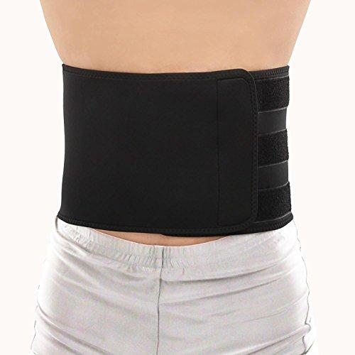 LetiStore Rückenstütze - Nierengurt Rückenbandage - Damen Herren Lendenwirbel Rücken Gürtel - Neopren Bandage Zur Haltungskorrektur - Größe M Farbe Schwarz