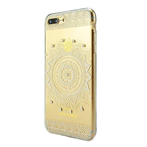 iPhone 8 Hülle, Fraelc iPhone 7 Bling Diamant Glänzende Schutzhülle Weiche Flexible TPU Silikon Bumper Handyhülle für Apple iPhone 7 / 8 Gummihülle mit Rot Blatt Design Backcover # 2