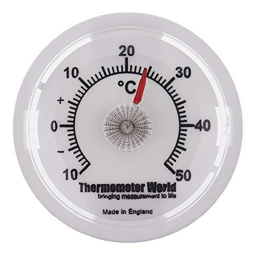 Wand Thermometer 65mm Zifferblatt-Ideal für Raum, Garage, Büro und Schlafzimmer Temperaturüberwachung (Garage, Wand-thermometer)