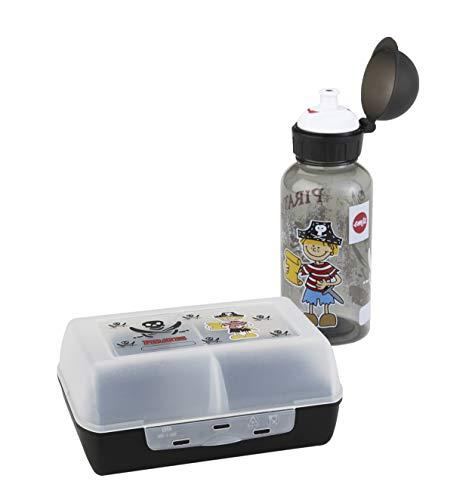 Emsa 518136 - Set botella agua fiambrera pirata niños
