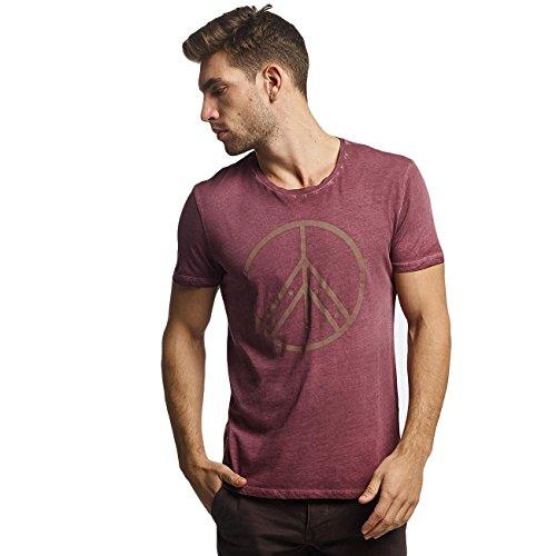 Mavi Jeans Herren Oberteile/T-Shirt Peace Violet L Peace Jeans