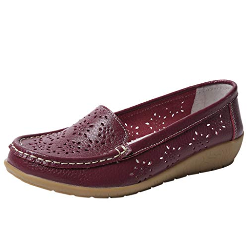 Frauen Faul Kostüm - LILIGOD Einzelne Schuhe Frauen Freizeit Damen Flache Bequem Faule Schuhe Runder Zeh Slip-On Bootsschuhe Sandalen Outdoor Müßiggänger Weich Atmungsaktiv rutschfeste Schuhe