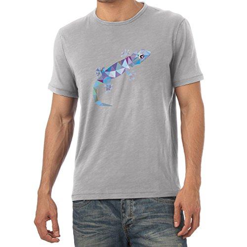 TEXLAB - Poly Gecko - Herren T-Shirt Grau Meliert