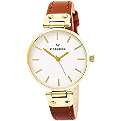 Mockberg MO1003 Nora Gold & Brown Leather Ladies Watch Leather