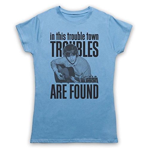 Inspiriert durch Jake Bugg Trouble Town Unofficial Damen T-Shirt Hellblau
