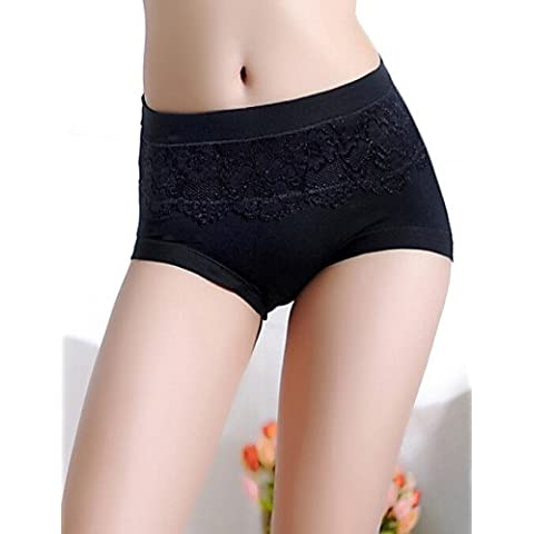 Da wu jia Ms. intimo donna sexy High Waist Culotte Shorts Boy & Perizoma Donna Lingerie , black-one-size , nero-one-size