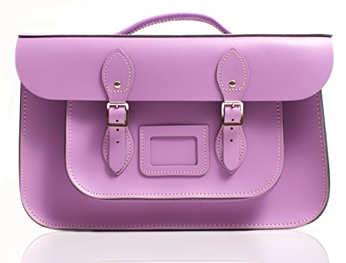 Oxbridge Satchel's, Borsa a secchiello donna Pattent Oxblood Bellflower Purple