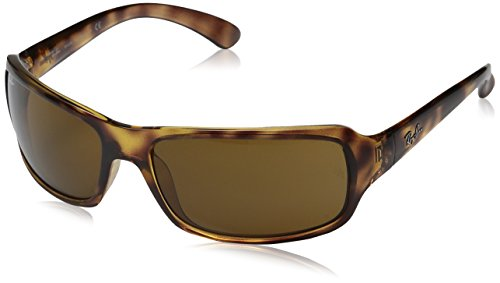 Ray-Ban Sport Wrap Sonnenbrillen in Havana Crystal braun polarisiert RB4075 642/57 61