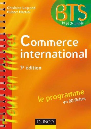 Commerce international - 3e édition - Le programme en 80 fiches par Ghislaine Legrand