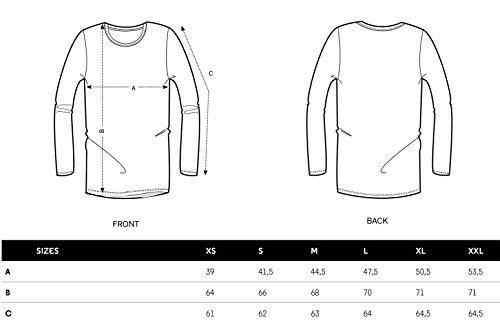 YTWOO Damen Slub Langarmshirt Aus 100% Bio-Baumwolle, Damen Bio Longsleeve mit Nackeneinfassung. Damen Slub-Longsleeve Weiß
