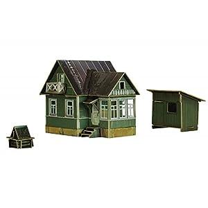 Keranova keranova3001: 87Escala 8x7X 8cm Clever Papel Tren colección Edificios Casas de Verano 3D Puzzle