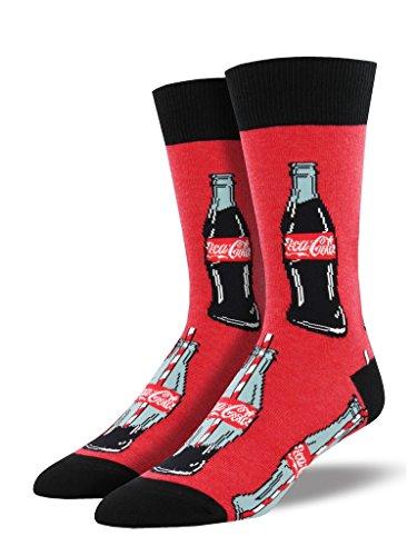 Coca-Cola Gut bis zum letzten Tropfen Einheitsgröße für die meisten roten Herren Socken