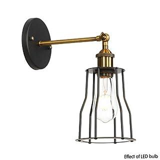 AMZ BCS Wandleuchten Rustikale Beleuchtung Einstellbare Sockel Vintage Wandlampen Industrielle Metallkäfig Wandleuchte mit Schalter Indoor Home Retro Lichter Leuchte