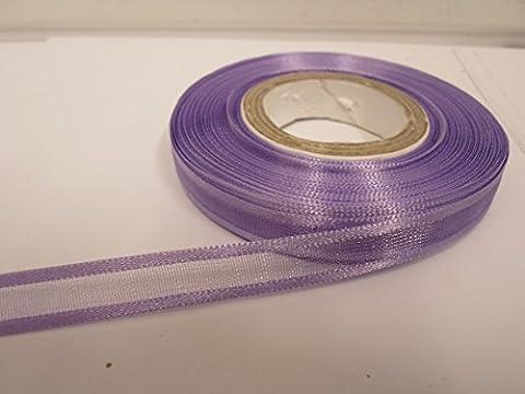 2 metres x 10mm Edged Organza Ribbon, Lilac, Light Purple,