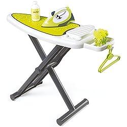 Smoby-330104 Tabla de Planchar eléctrica, Color Verde, Blanco (Simba Toys 330104)
