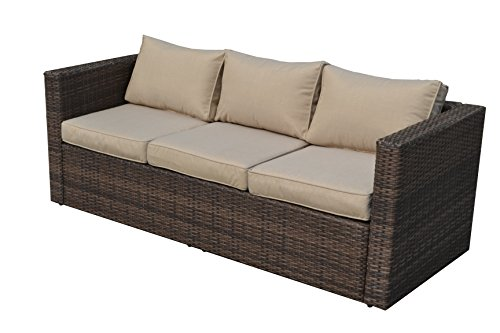direct wicker 6 seater rattan garden furniture sofa set with with storage table