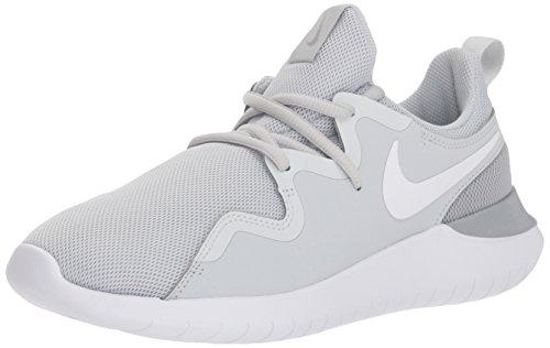 Nike Damen Tessen Sneaker Grau/Weiß, 42 EU