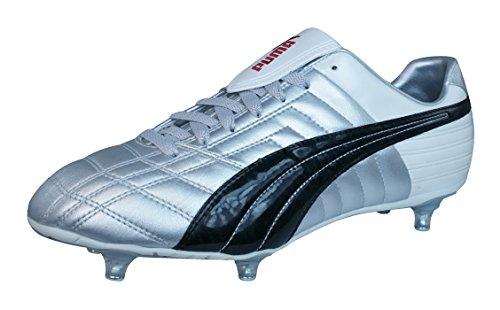 Puma Mestre SG Homme cuir Chaussures de football silver