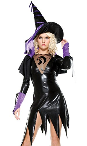 fourever Funky Damen Sexy Wicked Hexe Spellbound Sexy Halloween-Kostüm Gr. X-Small/Small, (Kostüme Funky Hexe)