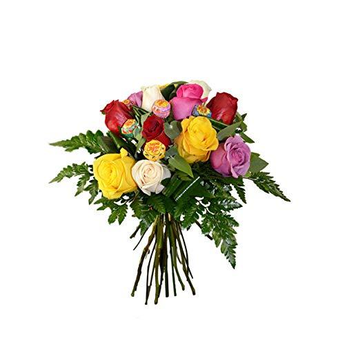 Regalar flores se considera un gesto de cariño y amistad. El significado de las rosas es amor y respeto. Ninguna flor ha sabido tocar tan profundamente tantos corazones. ¡Te traemos la combinación perfecta: rosas y chupa chups! Ramo de rosas rojas de...