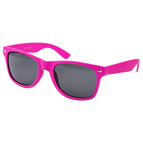 Ciffre Sonnenbrille Nerdbrille Nerd Retro Look Brille Pilotenbrille Vintage Look - ca. 80 verschiedene Modelle Pink Gummiert