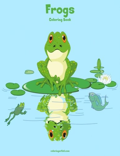 Frogs Coloring Book 1: Volume 1