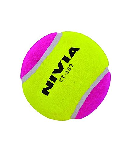 NIVIA CRICKET TENNIS BALL HEAVY WEIGHT MULTICOLOR  available at amazon for Rs.400
