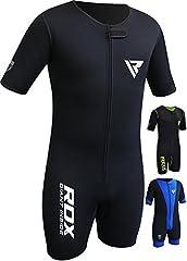 Idea Regalo - RDX Tuta Sauna Ginnastica Allenamento Dimagrante Sportiva Felpata Sudorazione Termica Palestra Running