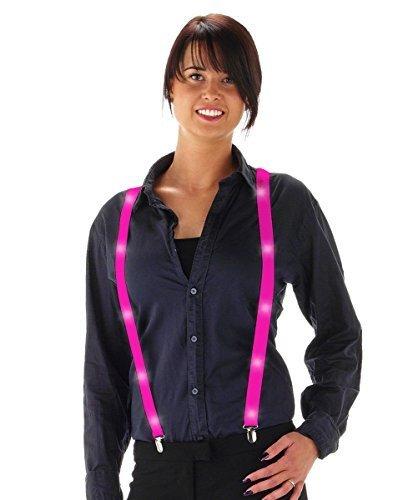 Preisvergleich Produktbild Fancy Kleid Neon farbigen Hosenträger mit LED Lights–Pink