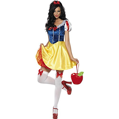 Disney Fancy Dress Kostüm Frauen - Fever Damen Märchen Kostüm, Kleid, Unterrock,