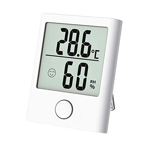 Tragbares Thermometer Hygrometer, Digital Innen/Außen Thermo-Hygrometer mit Hohe Genauigkeit, Klare Temperatur und Luftfeuchtigkeit, Komfortanzeige, Feines Design, geeignet für Raum, Ausflug usw.
