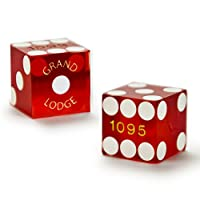 Brybelly Pair of Authentic Grand Lodge Casino Cancelled Craps Dice - Actually Used in Casino!