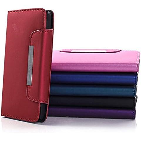 Tirón de la caja del cuero de la carpeta para Samsung Galaxy i9600 S5.