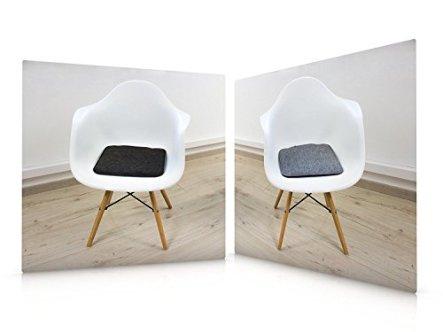 Filz Sitzkissen In Graumeliert Und Dunkelgrau Zum Wenden, Waschbare  Stuhlauflage Mit Füllung Inkl. Reissverschluss. Moderne Sitzauflage Für Bank  Und Stuhl ...