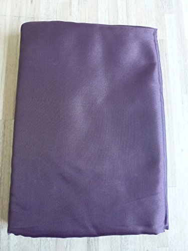 Satin Stoff Dekostoff Schal Gardine 1,5 m x 3 m aubergine lila 708505-20 (Schimmernde Pflaume)
