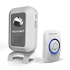 TeckNet® Wireless Doorbell Operating at 500-feet Range with 52 Chimes (Battery Operated)