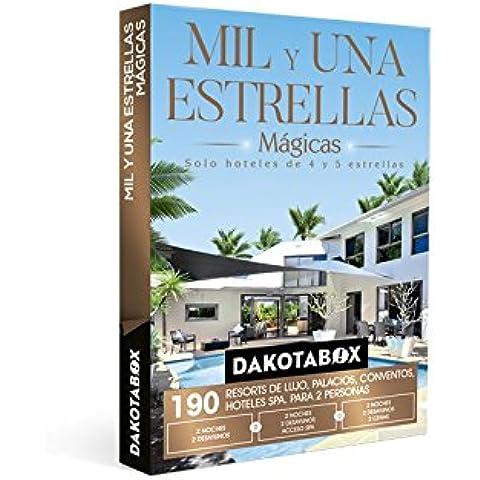 DAKOTABOX - Caja Regalo - MIL Y UNA ESTRELLAS DE MÁGICAS - 190 Hoteles únicos de 4 y 5*: hoteles, balnearios, palacios,