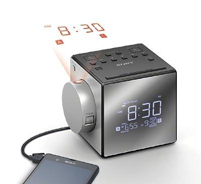 Sony icf-c1pj–Alarme Horloge (Écran LCD, CR2032, Argent) de Sony