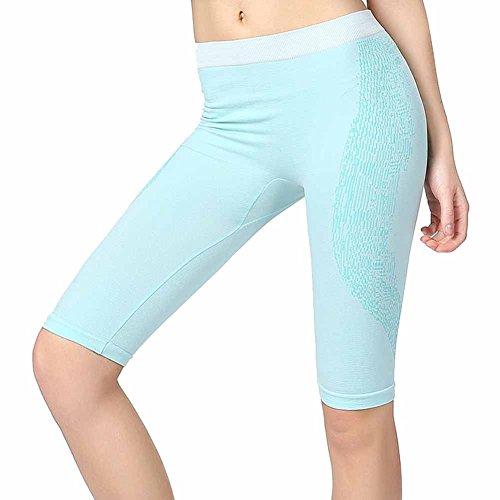 Surker Femmes Pantalons Cinqui¨¨me Pantalons respirant Quick Dry Tight CL02728 Menthe verte