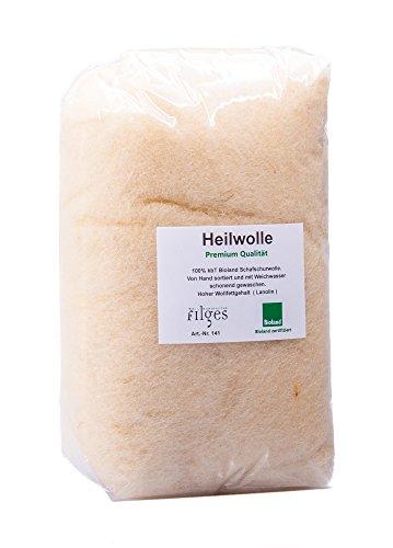 Heilwolle 100 Gramm - Ohrenwolle - Babypflege - Nabelpflege - Ohrenschmerzen - Rheuma - Stilleinlagen - Erkältung