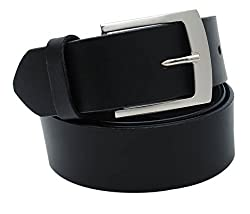 Walletsnbags Novapull Casual Leather Belt (B6_Black_42)