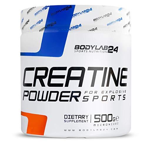 Bodylab24 Creatin Pulver, 100{92c9faa2b21fb49822634ac75b25685680c31a6980bae483c248bfff966c5290} Monohydrat Pulver, höchste Reinheit für Muskelwachstum, Premium Qualität, 500 Gramm Dose