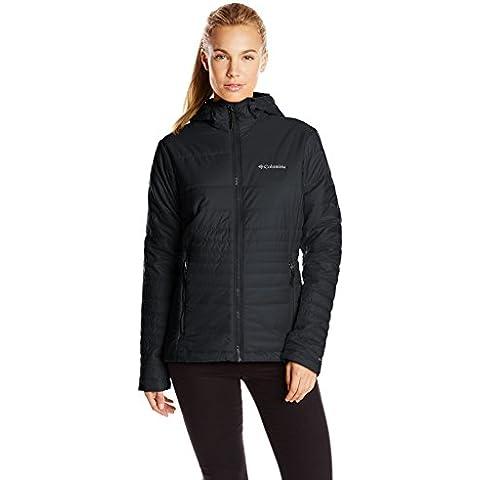 Columbia Go To Hooded Jacket - Chaqueta de esquí para mujer, color negro, talla S