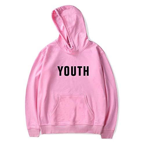 LOVEYF Unisex Hoodies Fan Pullover für Frauen Männer mit Taschen Mädchen Baumwolle Sweatshirts Shawn Mendes Hooded Sweatshirts 'Youth' Frühling Lässige ()