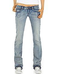 Bestyledberlin Damen Jeans Hosen, Bootcut / Hüftjeans j23kw