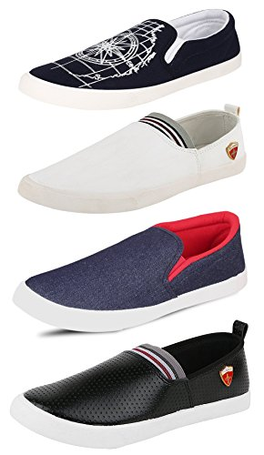 Tempo Men's Combo Pack of 4 Loafers & Moccasins-9